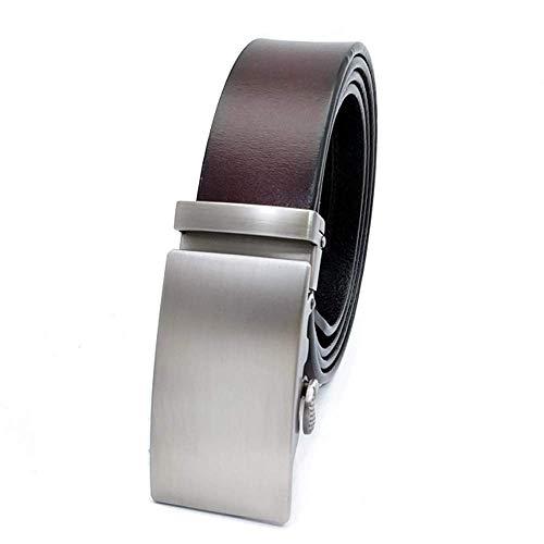 Men's Automatic Buckle Belts Genuine Leather Pure Cowskin Cowhide Belt -