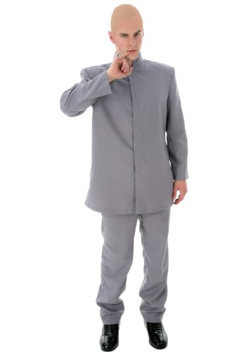 Deluxe Adult Gray Suit Fancy Dress Costume X-Small (Dr. Kostüm Evil)