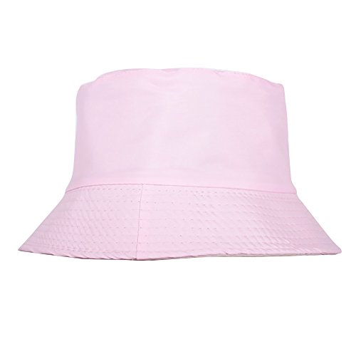 Wingbind Unisex Baumwolle Bucket Hat Sommer Angeln Boonie Beach Sun Cap - Volltonfarbe Reversible Portable Reverse zwei Seiten faltbar