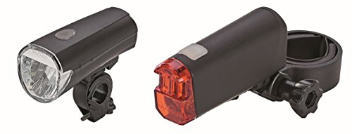 Prophete LED-Batterieleuchten-Set 30 Lux Beleuchtung, Schwarz, M