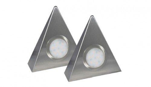 Rolux LED-Dreieckleuchte DF-1927 2er Set mit Zentralschalter 2 x 2 Watt