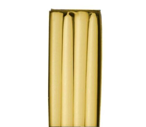 8 Leuchterkerzen Ø 22 mm · 250 mm creme aus 100 % Stearin Spitzkerzen