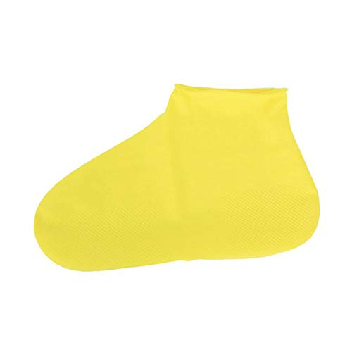 Waterproof Rain Reusable Shoes Covers All Seasons Slip-resistant Rubber Rain Boot Overshoes Men&Women Shoes Accessories,Yellow,S (Overshoe Boots)