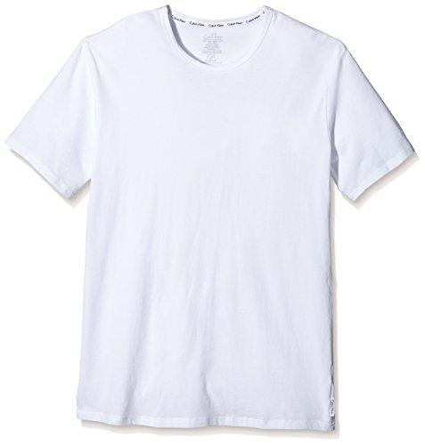 Calvin Klein Herren T-Shirt 2P S/S CREW NECK, Gr. X-Large, Weiß (WHITE 100) (Calvin Klein-crew-t-shirt)