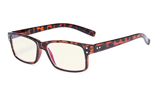 Eyekepper Computer lesen Brille UV-Schutz,Blendschutz/Blau Leser der Strahlen,Schildkröte +3.00