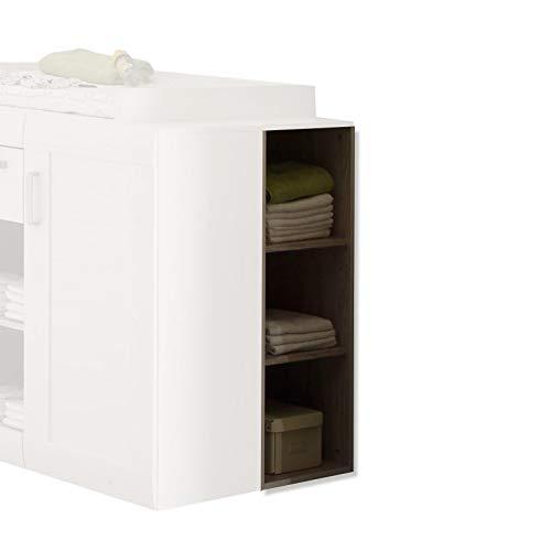 trendteam smart living Babyzimmer Regal Landi, 38 x 95 x 38 cm in Pinie Weiß Struktur, Absetzung Pinie Dunkel (Nb.) im Landhausstil