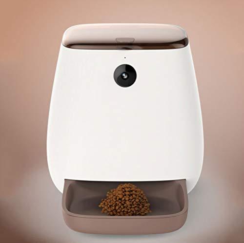 CWWSQ Haustier-automatische Zufuhr-intelligente Haustier-Hundezufuhr-Fernbedienung Mit Kamera-Nahrungsmittelzufuhr-Programm-Einstellung,White