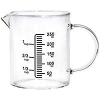 WEIZI Zhanyi 250ml / 500ml de vidrio taza de medir anti-explosiva resistente a altas temperaturas Boca Con Escala Con la manija de la taza del agua de los hogares de la hornada Herramientas Larga vida