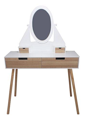 Designer SCHMINKTISCH #563 Frisiertisch Frisierkommode mit Spiegel 146 x 100 x 30 cm modern habeig®