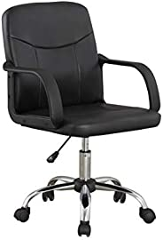 PU chair Upl: PVC Arm: PP Mch: common up and down Base: 280 chrome Gas lift: 100mm class 2 Nylon castors