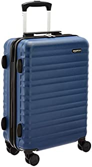 AmazonBasics Hardside Luggage Spinner - 55cm Cabin Size, Navy Blue, Approved for most budget airlines