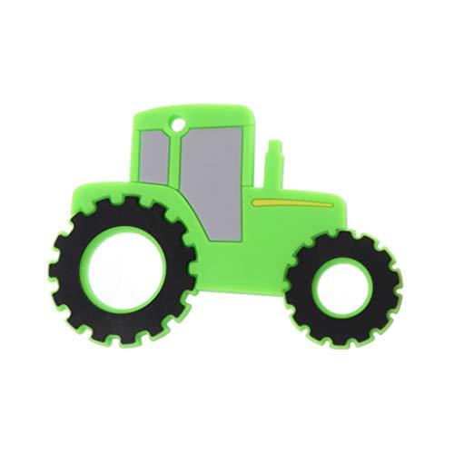 Longsw Baby Silikon Beißringe BPA Frei Kinderkrankheiten Spielzeug Nette Auto Form Baby Ring Beißring Silikon Perlen DIY Kette