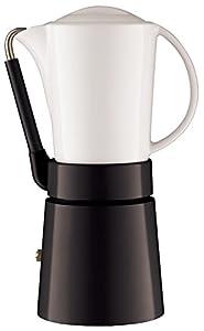 aerolatte Caffé Porcellana / Stovetop Espresso Maker, 4-Cup / 250 ml, Black