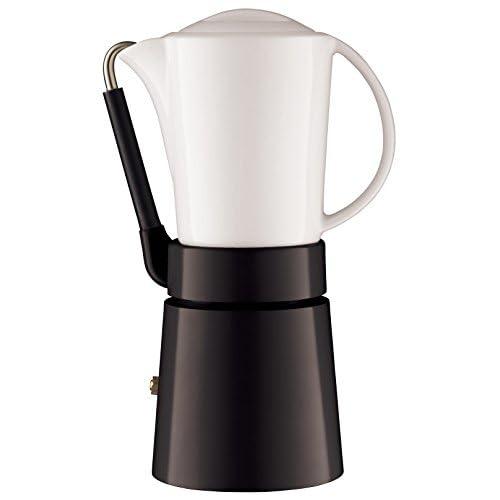 31doIVAvQSL. SS500  - aerolatte Caffé Porcellana / Stovetop Espresso Maker, 4-Cup / 250 ml, Black