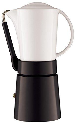 Aerolatte - Calentador de Jarra de café de Porcelana, Color Negro