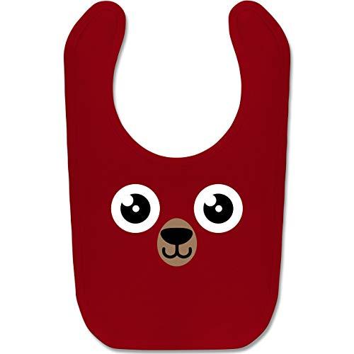 Grizzly Bär Kostüm Baby - Shirtracer Karneval und Fasching Baby - Bär Karneval Kostüm - Unisize - Rot - BZ12 - Baby Lätzchen Baumwolle