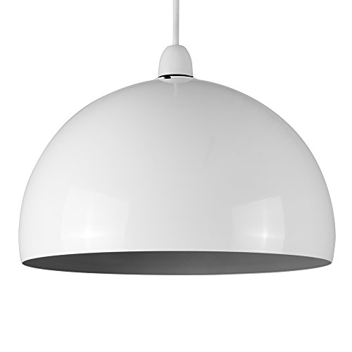 modern-gloss-white-grey-metal-dome-ceiling-pendant-light-shade