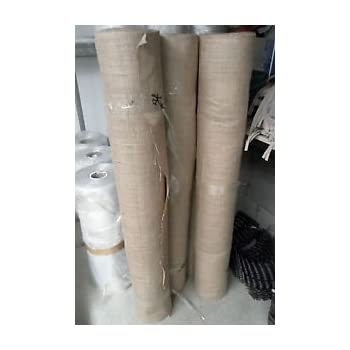 """Natural hessian jute sack fabric SOLD PER METRE 72/""""wide upholstery or garden use"""