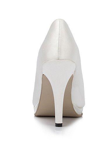 WSS 2016 Chaussures femmes satin talons talon aiguille talons mariage / fête&soirée / robe ivoire / blanc 3in-3 3/4in-ivory