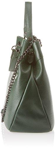 Chicca Borse 8857, Borsa a Spalla Donna, 31x30x15 cm (W x H x L) Verde (Verde)