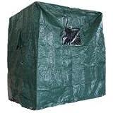 Playa cesta móvil PE Verde (130cm) de viento y resistente al agua