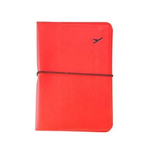 Leder Kartenetui Schutzhülle Brieftasche Tasche rot ()