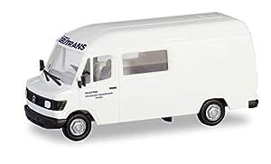 Herpa 094917 - Maqueta de Mercedes-Benz 207 D (semibus alemán, en Miniatura, para coleccionar y Regalo), Color Blanco