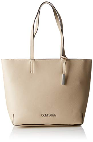 Calvin Klein Damen Stitch Ew Shopper Tote, Pink (Light Sand) 16x30x28 cm