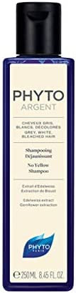 Phyto Phytoargent Shampoo Anti Ingiallimento per Capelli Grigi, Bianchi, Decolorati, Neutralizza i Riflessi Gi