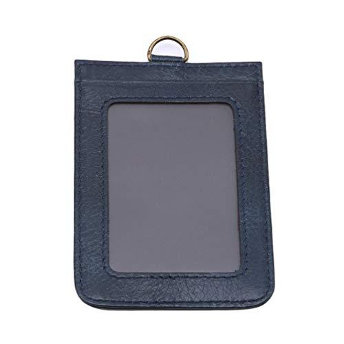 KYMLL Hang Neck Card Case Leder PU Kreditkarteninhaber Führerscheinkarte Brieftasche Bus Card Pack Office ID Pocket