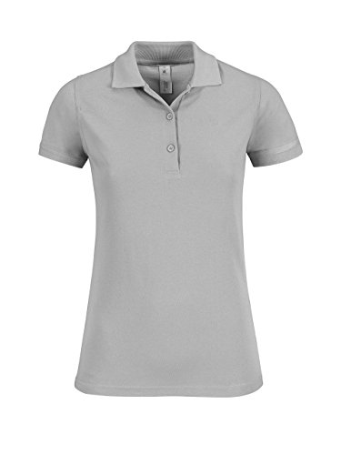 B & C Safran zeitloses Damen Polo Shirt Pacific Grey