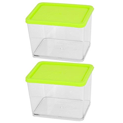 Sourcingmap® casa in plastica per alimenti congelatore sushi frutto soia sigillato conservazione frutta e verdura scatola 2 pz