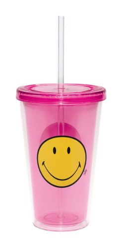 Zak Designs 6187-0851 Smiley double wall ice Trinkglas 49 cl