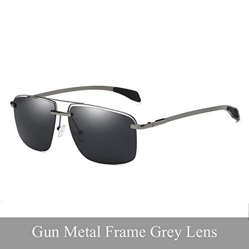 LKVNHP New Hochwertige Herren Sonnenbrille Polarisierte Sonnenbrille Fahren Brillen Zubehör Für Männer Oculos De Sol Masculino ShadesGun Metal GrauObjektiv