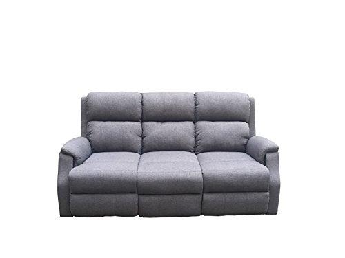 Avanti trendstore - alina - divano a 3 posti in microfibra di colore antracite con funzione relax integrata, dimensioni lap 179x97x90 cm