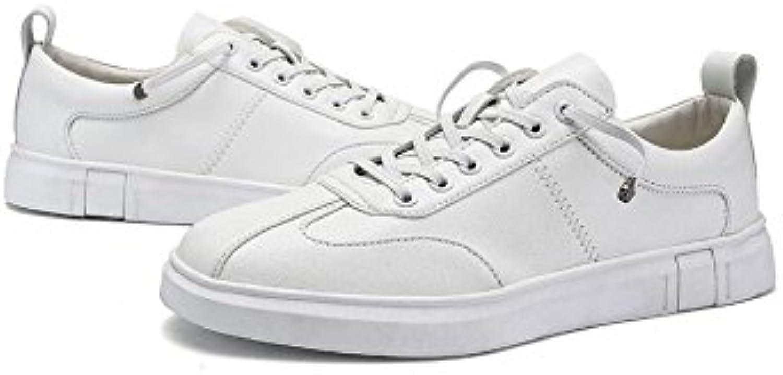 XUEQIN Low Top Sneakers Herren Flache Herren Freizeitschuhe (Farbe : Weiß  größe : EU42/UK8.5/CN43)