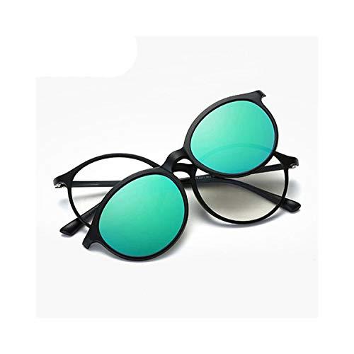 Sport-Sonnenbrillen, Vintage Sonnenbrillen, 2 In 1 Polarized Clip On Sunglasses Männer WoMänner TR90 Frame Magnetic Glasses For Male Eyeglasses Driving Round Sun Glasses E Green