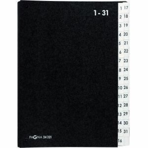 Pultordner 24321 Pagna 1-31 schwarz Vorordner aus Hartpappe Vorlagenmappe