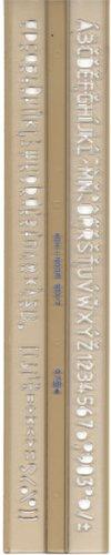 Schriftschablone ISO Norm Schrift Schablone 5,0 mm Schablonen Zeichenschablone