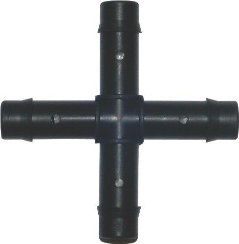 Plant it standard Croix de connexion pour tuyau 13 mm – Pack de 25, noir, 5,5 x 5,5 x 0,1 cm, 13–630–125
