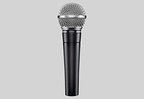 Shure SM58-LCE dynamisches Profi-Mikrofon, Richtcharakteristik: Niere, inklusive Etui und Halterung