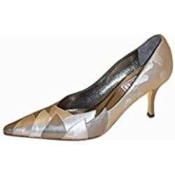Renata Multi Met Leafy Detail Court 3 Pewter