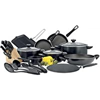 Prestige Aluminum Classique Pro Cookware Set of 24 Piece, Black PR21638