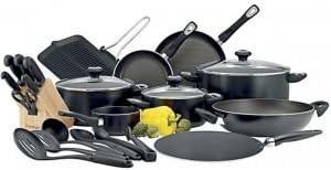 طقم ادوات مطبخ كلاسيك برو من الالمنيوم، 24 قطعة، اسود، من بريستيج - PR21671