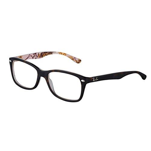 RAYBAN Damen Brillengestell 5228, Schwarz, 53