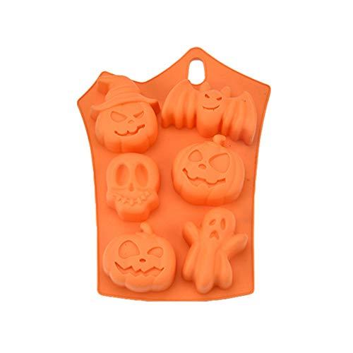 Meedot Silikon Form,Schokoladen Kuchen Silikon Form, kreative Happy Halloween Christmas Kürbis Silikon Kuchen Form,Küche Backen Werkzeuge