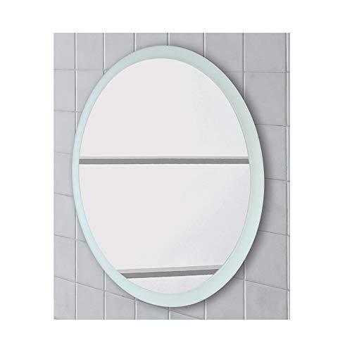 FERIDRAS Miroir Rond satiné avec Panneau 80 cm