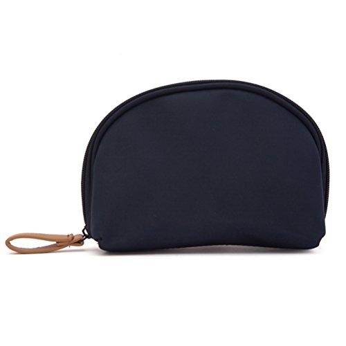 Luoem trousse organizer borsa da toilette viaggio impermeabile pochette per trucchi donna (blu scuro)