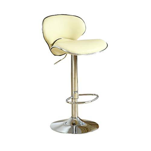 YYSyys Barhocker Rotierenden Metall Hochstuhl Mode Bar Stuhl Schmiedeeisen Hochstuhl Kreative Tisch Und Stühle Home Dining Stuhl Front Barhocker Freizeit Zähler Stuhl 4 Farben (Color : Beige) - 4 Zähler Höhe Stühle
