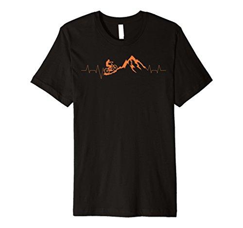 Mountain Bike Herzschlag Shirt | niedliche Bike Herzschlag Tee Geschenk